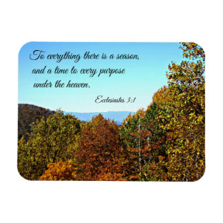 Ecclesiastes 3:1 To everything there is a season.. Magnet
