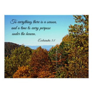 Ecclesiastes 3:1 To everything there is a season.. Poster