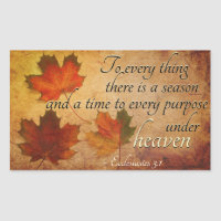 Ecclesiastes 3:1 To everything there is a season, Rectangular Sticker