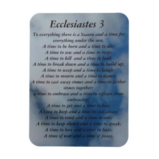 Ecclesiastes 3 magnet