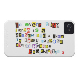 Ecclesiastes 3 Ransom Note Style iPhone 4 Case