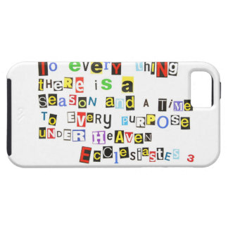 Ecclesiastes 3 Ransom Note Style iPhone 5 Cover