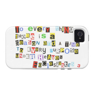 Ecclesiastes 3 Ransom Note Style iPhone 4 Cover