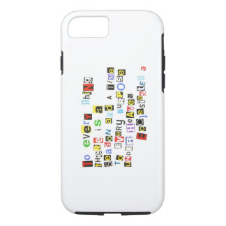 Ecclesiastes 3 Ransom Note Style iPhone 8/7 Case