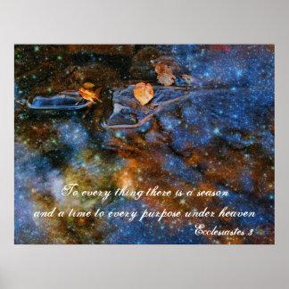 Ecclesiastes 3 Starry Autumn Poster