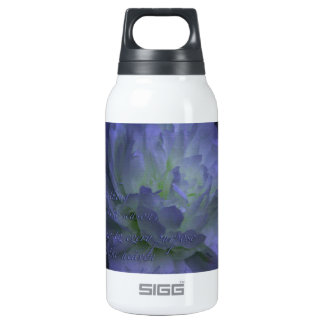 Ecclesiastes 3 with beautiful flower insulated water bottle