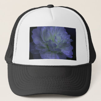 Ecclesiastes 3 with beautiful flower trucker hat