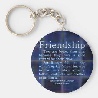 Ecclesiastes 4:9-10 basic round button keychain