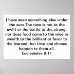 Ecclesiastes 9:11 poster