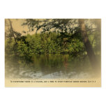 Ecclesiastes Lake Forest Bookmark Gold ATC ACEO Business Card Templates