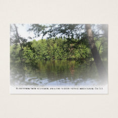Ecclesiastes Lake Forest Bookmark Gold ATC ACEO Business Card at Zazzle