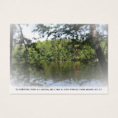 Ecclesiastes Lake Forest Platinum Bookmark Atc Business Card at Zazzle
