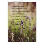 Ecclesiastes versifica la tarjeta de felicitación