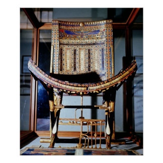 Ecclesiastical chair from the tomb of print
