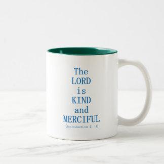 Ecclesiasticus 2: 11 Two-Tone coffee mug