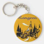 Echa en chorro su manera a Rangoon Llavero Personalizado