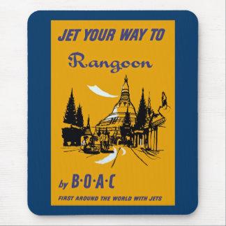 Echa en chorro su manera a Rangoon Tapetes De Raton