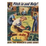 Eche adentro y ayude a unirse a al ejército de la tarjeta postal