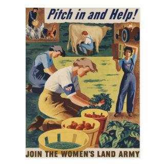 Eche adentro y ayude a unirse a al ejército de la postal