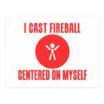 Eché la bola de fuego postal