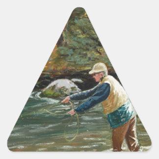 Eche lejos pegatina triangular