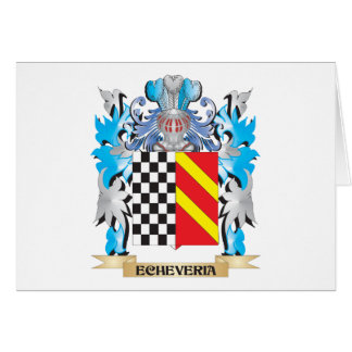 Echeveria Coat of Arms - Family Crest Cards