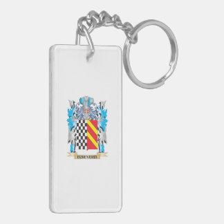 Echeveria Coat of Arms - Family Crest Double-Sided Rectangular Acrylic Keychain