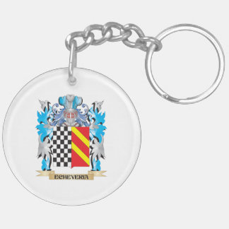Echeveria Coat of Arms - Family Crest Double-Sided Round Acrylic Keychain