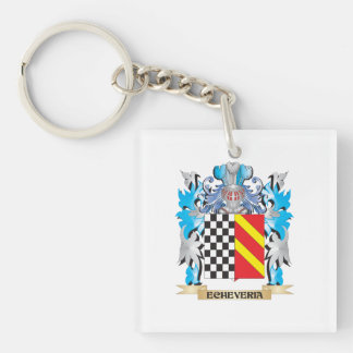 Echeveria Coat of Arms - Family Crest Single-Sided Square Acrylic Keychain