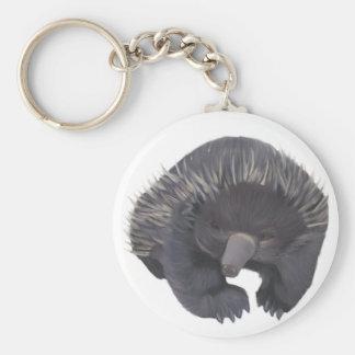 Echidna Basic Round Button Keychain