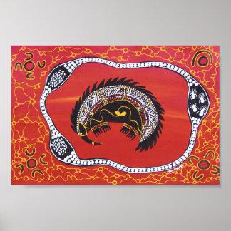 Echidna Dreaming Poster by Mundara