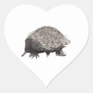 Echidna Heart Sticker