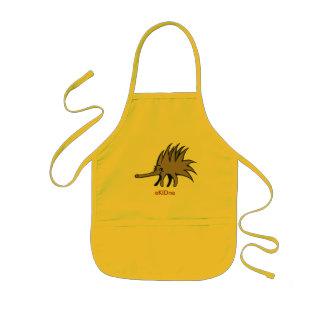 Echidna kids bib kids' apron