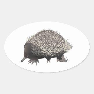 Echidna Oval Sticker