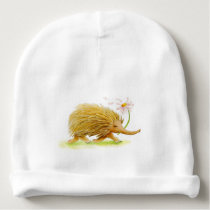 Echidnas whimsy watercolor custom baby hat
