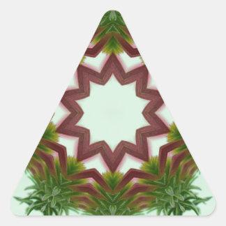 Echinacea Coneflower Wreath Kaleidoscope Triangle Sticker