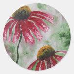 Echinacea Etiquetas Redondas