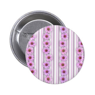 Echinacea Flower Stripes Pin