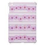 Echinacea Flower Stripes iPad Mini Case