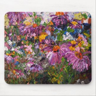 Echinacea Healing Plants Mouse Pad by Ginette mousepad