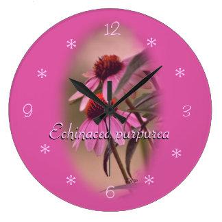Echinacea Mauve Clock- customize Large Clock