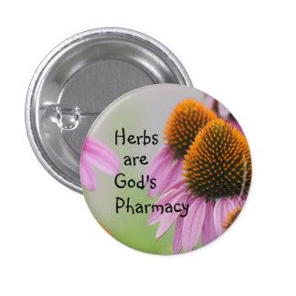Echinacea Pin button- customize