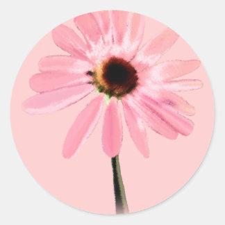 Echinacea purpurea classic round sticker