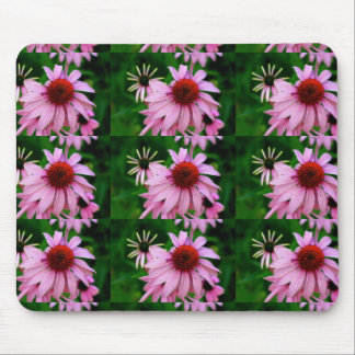 echinacea rosado en mousepad verde tapete de ratones