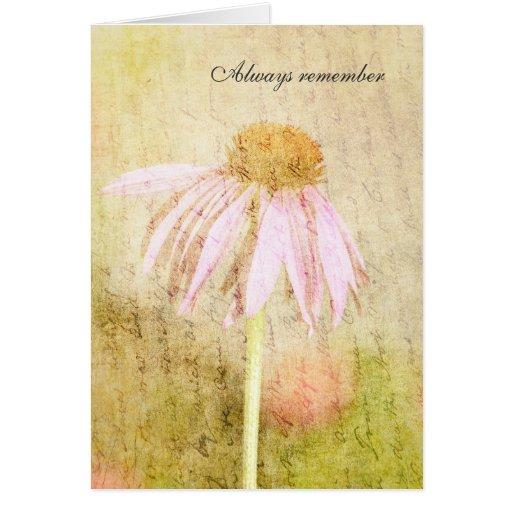 Echinacea rosado inspirado tarjeta de felicitación