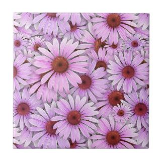 Echinaceas Everywhere Ceramic Tiles