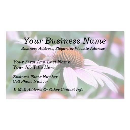 Echinaceas In The Mist Business Cards