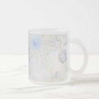 Echinacia Frosted Glass Coffee Mug