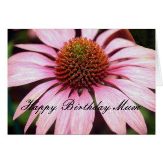 Echinacia Happy Birthday Mum Greeting Card