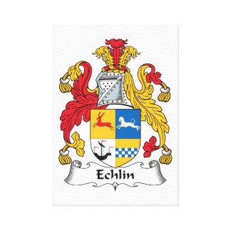 Echlin Family Crest Gallery Wrap Canvas
